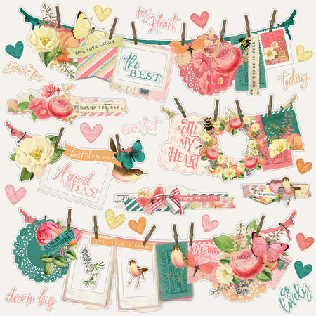 Simple Stories Simple Vintage Garden District - Banner Stickers
