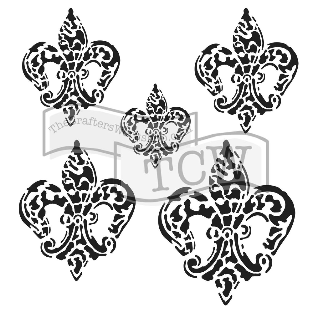 Crafter's Workshop 6x6 Template - Baroque Fleurs