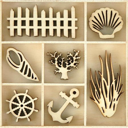 Kaisercraft Wooden Flourish Pack - Beach