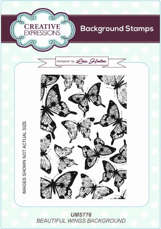 Creative Expressions Background Stamp - Beautiful Wings
