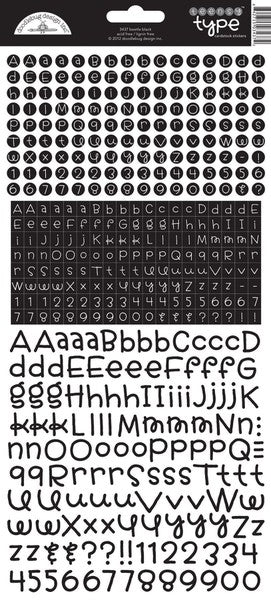 Doodlebug Teensy Type Alphabet Stickers - Beetle Black