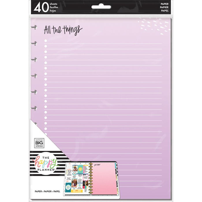 Me & My Big Ideas Happy Planner - Big Fill Paper All The Things