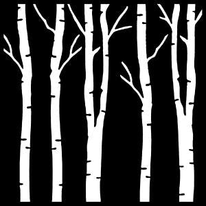 That Special Touch 6x6 Mask - Birch Trees