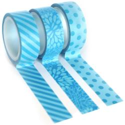 Queen & Co Kraft Trendy Tape Trio - Blue