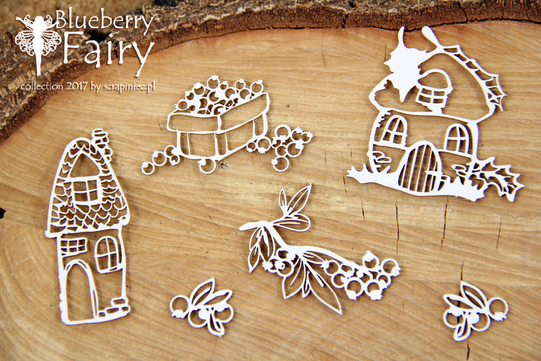 Scrapiniec Chipboard - 4719 Blueberry Fairy Elements