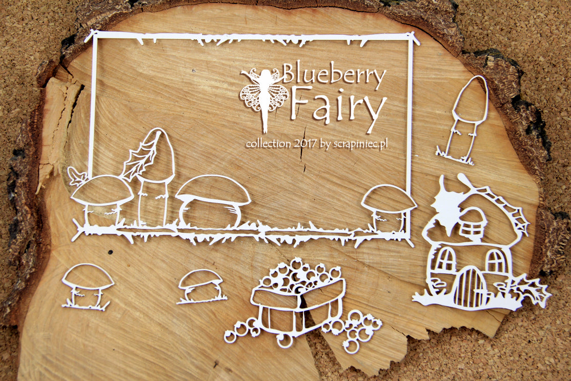 Scrapiniec Chipboard - 4732 Blueberry Fairy XL Rectangle Frame
