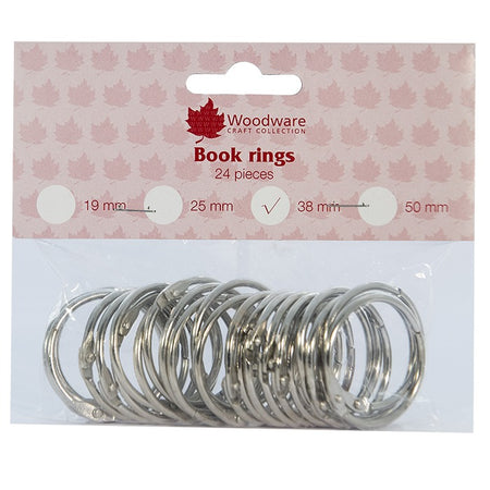 Woodware Book Rings - 38mm