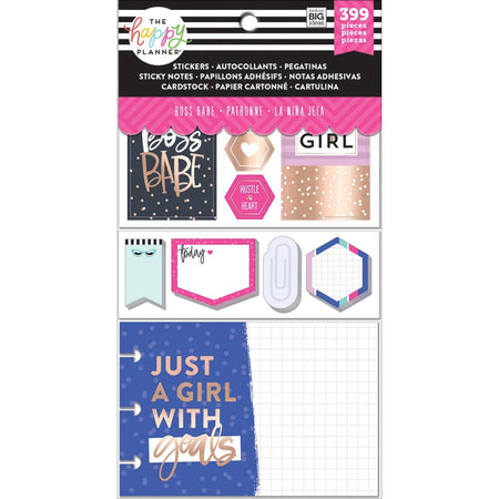 Me & My Big Ideas Happy Planner Note Cards/Stickers- Boss Babe