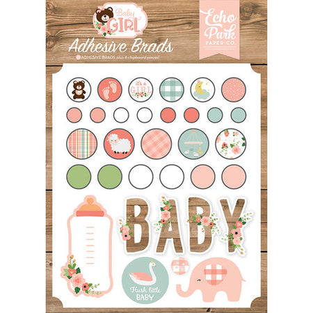 Echo Park Baby Girl - Decorative Brads
