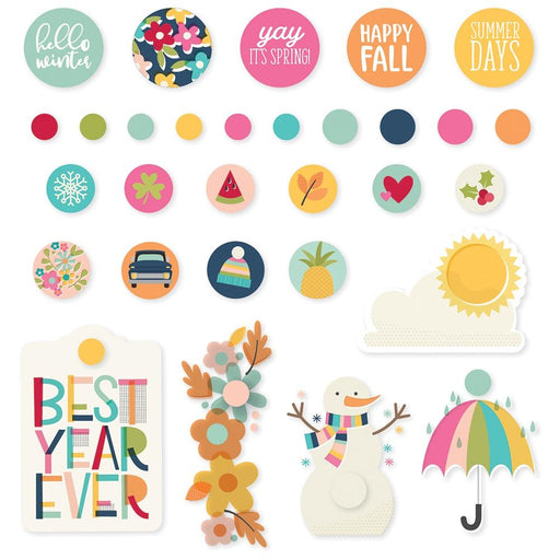 Simple Stories Best Year Ever - Decorative Brads