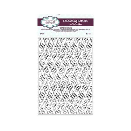 Creative Expressions A4 Embossing Folder - Braided Vines