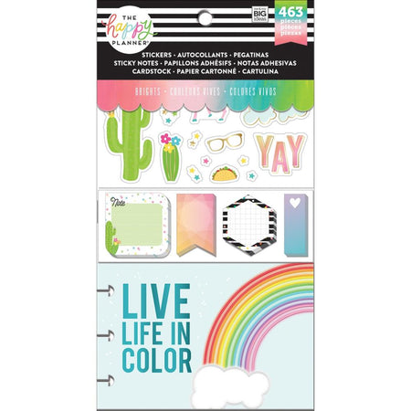 Me & My Big Ideas Happy Planner Note Cards/Stickers - Brights