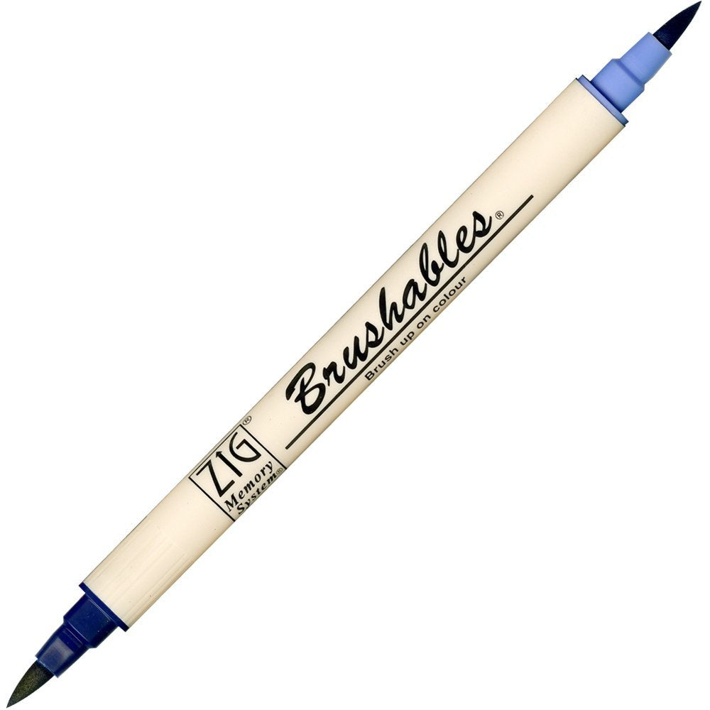 Zig Brushables Pen - Navy