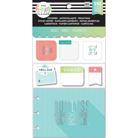 Me & My Big Ideas Happy Planner Note Cards/Stickers- Budget
