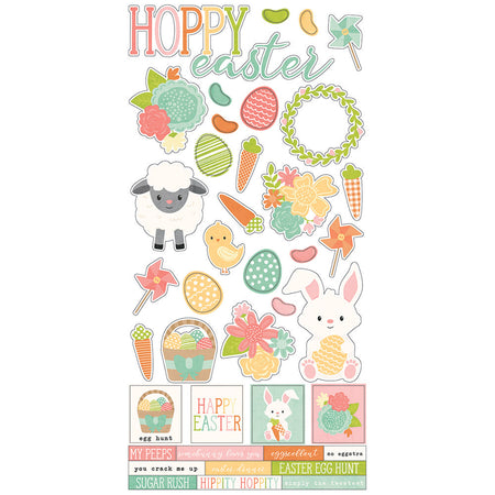 Simple Stories Simple Set Bunnies & Baskets - Stickers