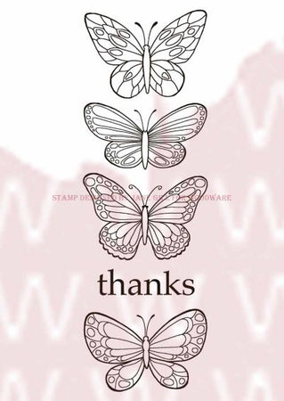 Woodware Clear Magic Singles Stamps - Butterflies