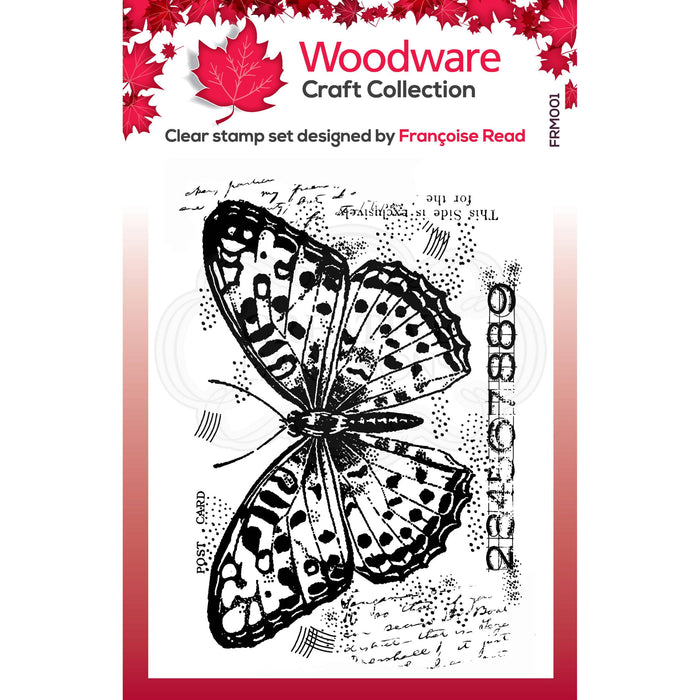Woodware Clear Magic Stamps - Butterfly