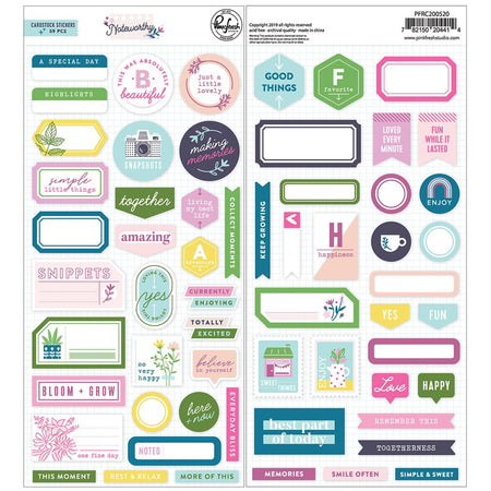Pinkfresh Studio Noteworthy - Cardstock Stickers