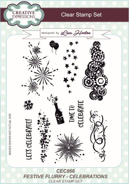 Creative Expressions Clear Stamp Set - Celebrations by Lisa Horton