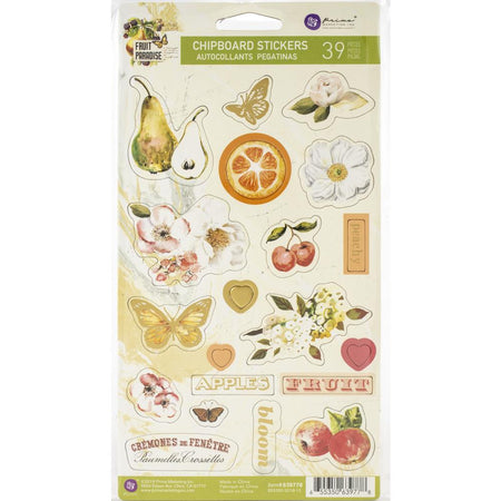 Prima Fruit Paradise - Chipboard Stickers