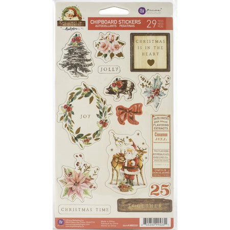 Prima Christmas In The Country - Chipboard Stickers