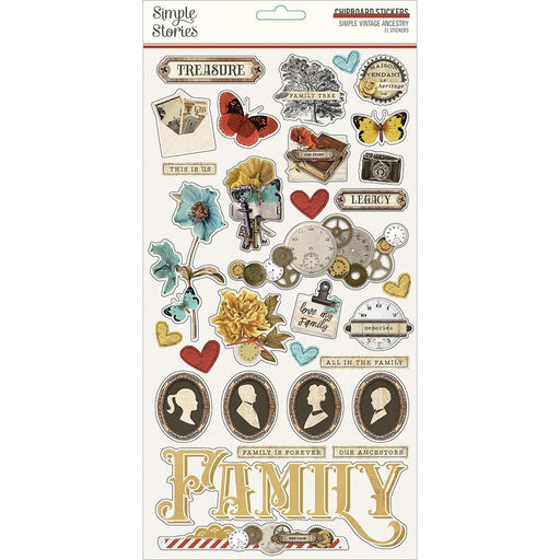 Simple Stories Simple Vintage Ancestry - Chipboard Stickers