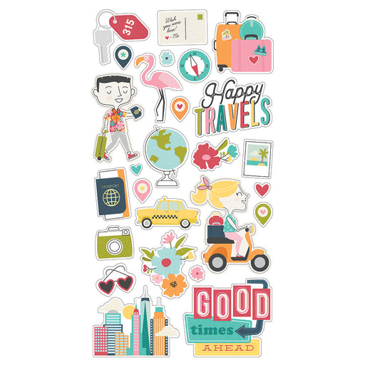 Simple Stories Going Places - Chipboard Stickers