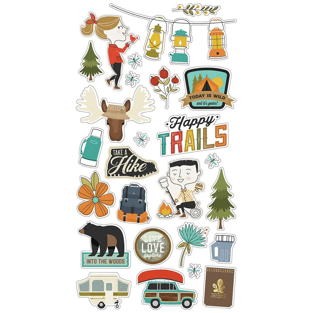 Simple Stories Happy Trails - Chipboard Stickers