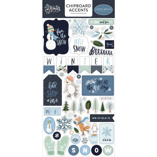 Carta Bella Winter Market - Chipboard Accents