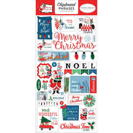 Carta Bella Merry Christmas - Chipboard Phrases