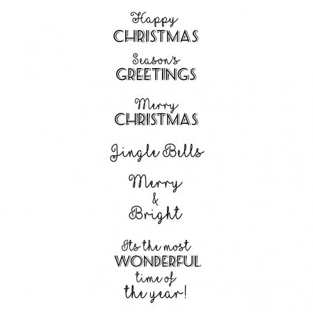 Woodware Clear Magic Singles Stamps - Christmas Cheer