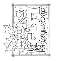 Woodware Clear Magic Singles Stamps - Christmas Date