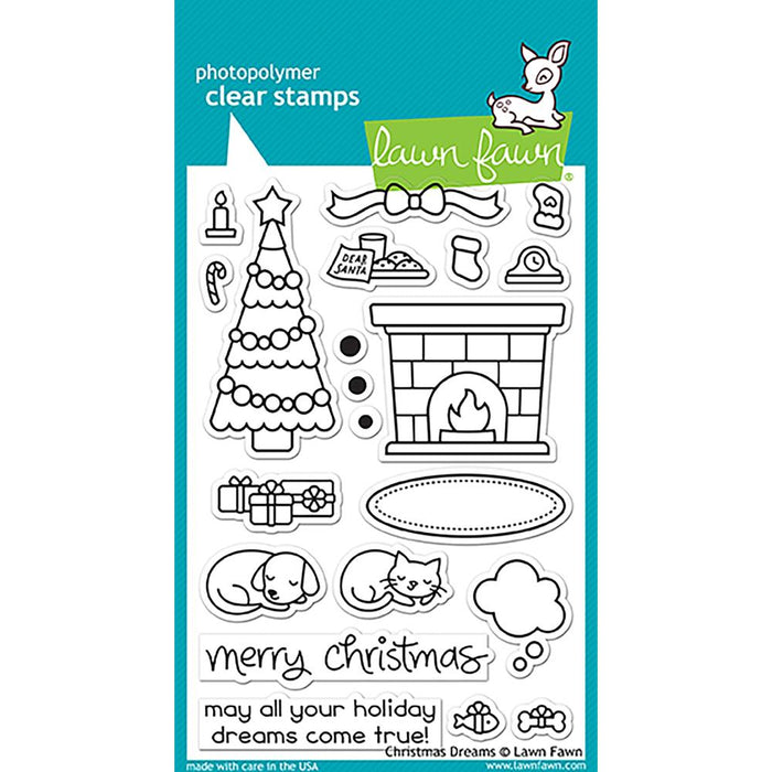 Lawn Fawn Clear Stamps - Christmas Dreams