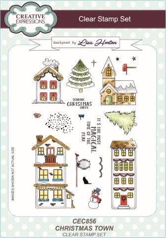 Creative Expressions Clear Stamp Set - Christmas Town by Lisa Horton