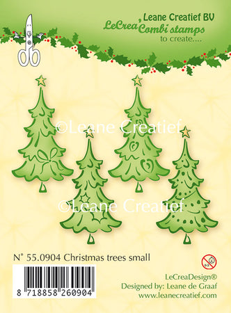 Leane Creatief Clear Stamps - Christmas Trees Small