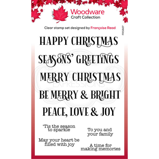Woodware Clear Magic Stamps - Christmas Sparkle