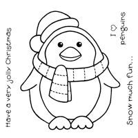 Woodware Clear Magic Singles Stamps - Chubby Penguin