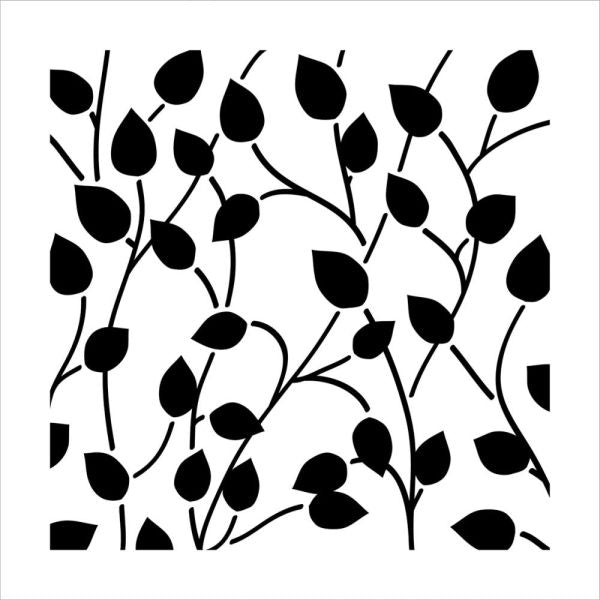 Crafter's Workshop 6x6 Template - Climbing Vine Reversed