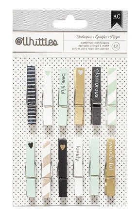 American Crafts Whittles Clothespins - Beautiful