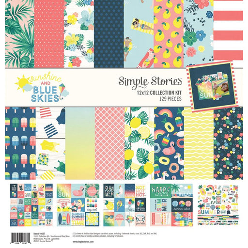Simple Stories Sunshine & Blue Skies - 12x12 Collection Kit