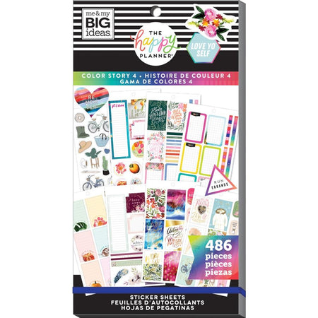 Me & My Big Ideas Happy Planner - Sticker Value Pack Color Story 4