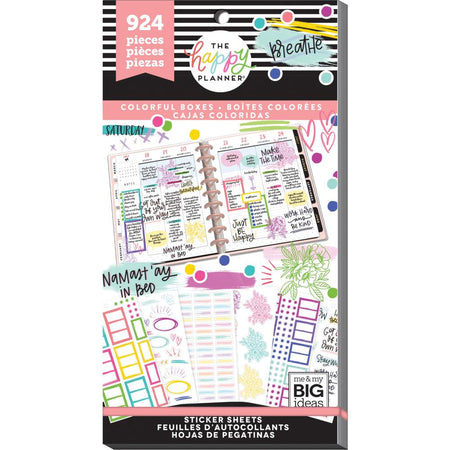 Me & My Big Ideas Happy Planner - Sticker Value Pack Highlights Colorful Boxes
