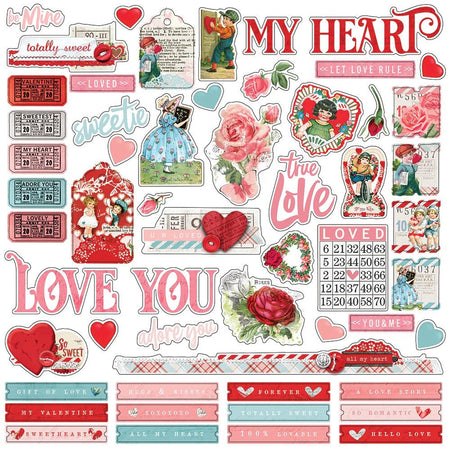 Simple Stories Simple Vintage My Valentine - Combo Stickers