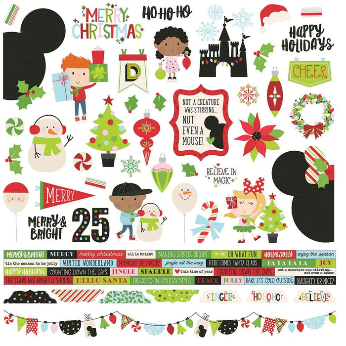 Simple Stories Say Cheese Christmas - Combo Stickers