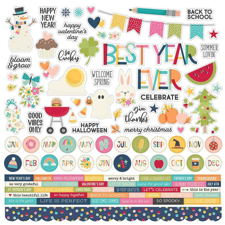 Simple Stories Best Year Ever - Combo Stickers