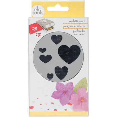 EK Success Slim Large Punch - Confetti Hearts