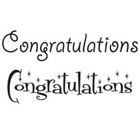 Woodware Clear Magic Singles Stamps - Congratulations