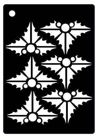 Creative Expressions Mini Stencil - Contemporary Holly