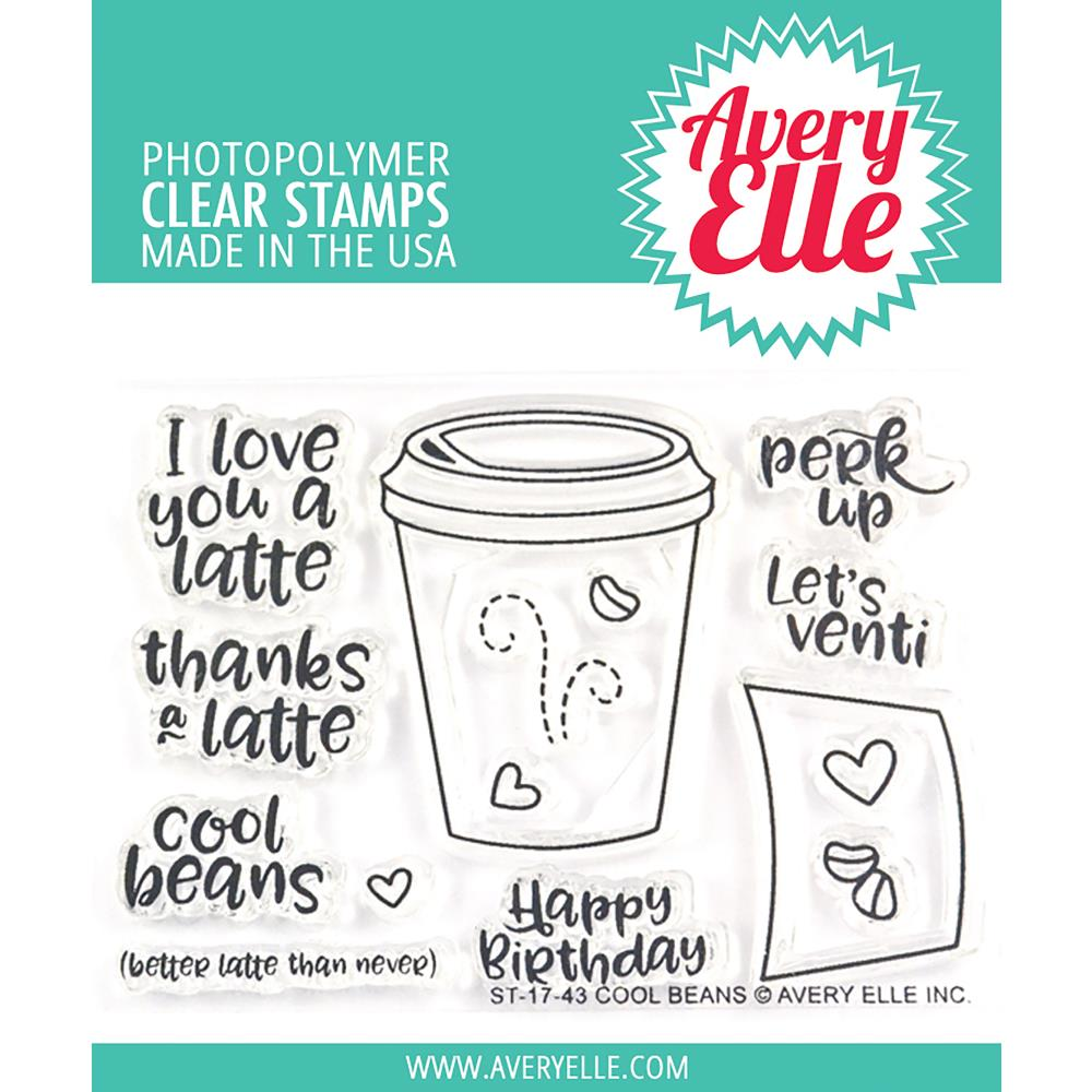 Avery Elle Clear Stamps - Cool Beans