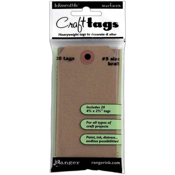 Ranger Inkssentials - Kraft Craft Tags #5